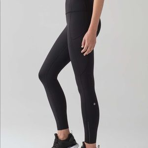 Lululemon Fast & Free 7/8 leggings black 6